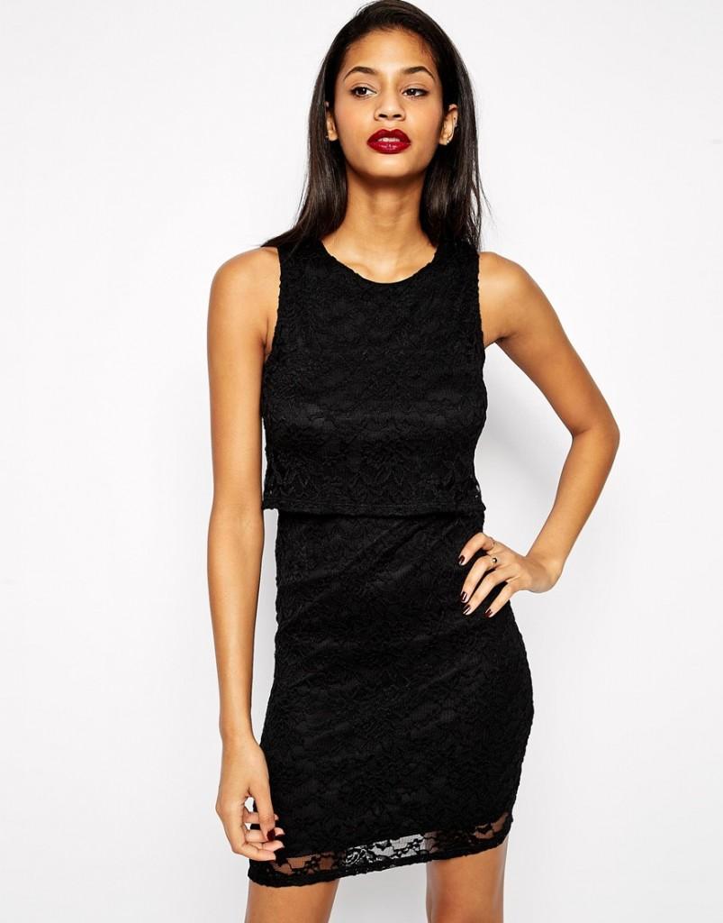 robe noir dos nu