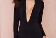robe a volant noir