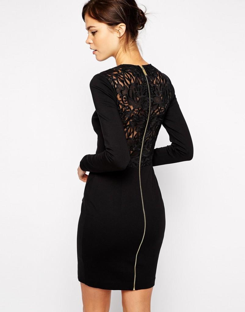 robe chasuble noire