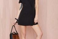 robe de soiree noir et blanche