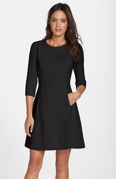 Robe noir blanc