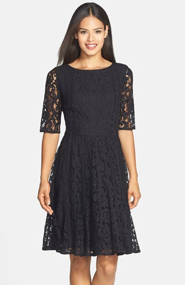 robe noir dos nu plongeant