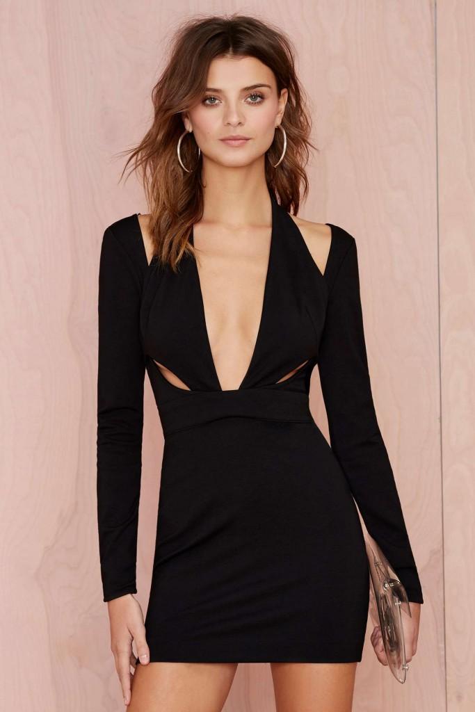 robe noir fashion