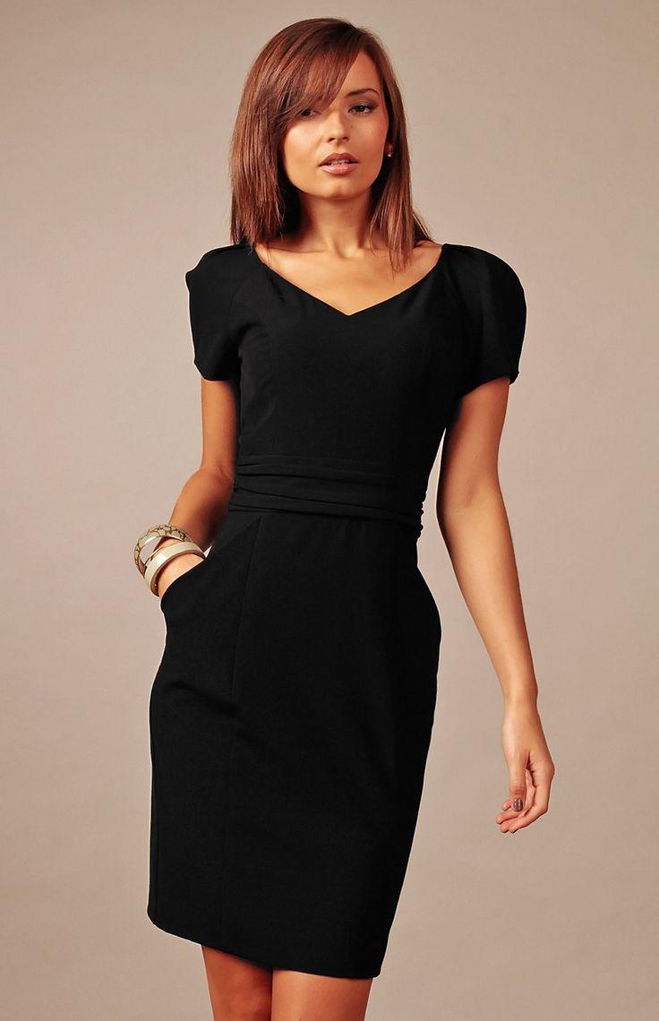 7e9ff1e73d1 Robe noire classe robe ete manches courtes
