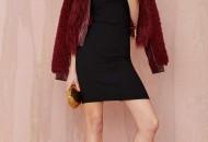 robe noire bustier longue