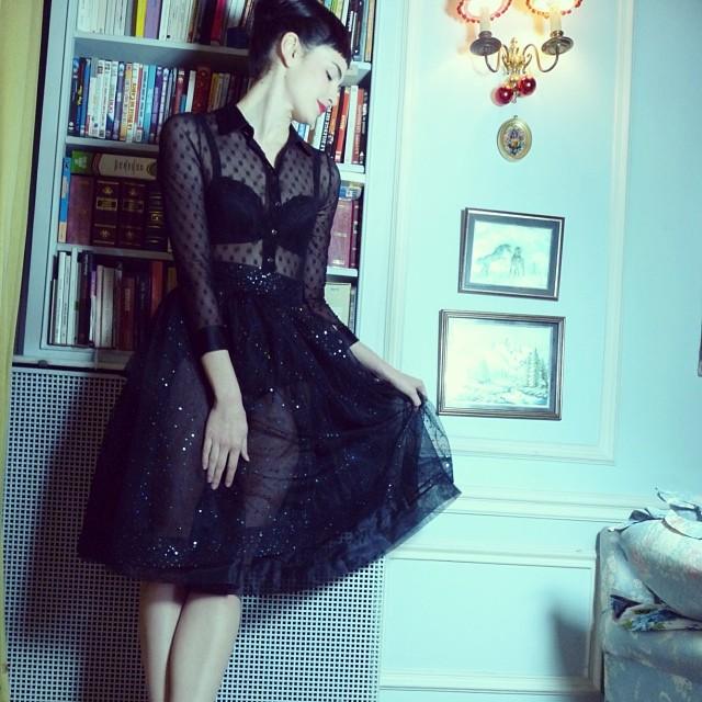 robe de soirée longue noire