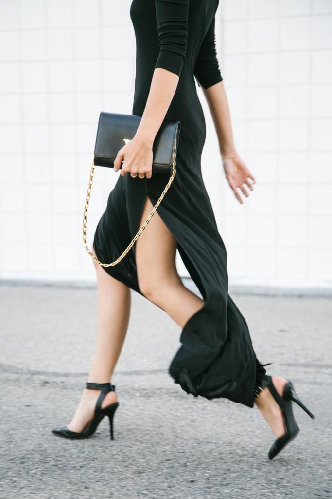 robe noir zara